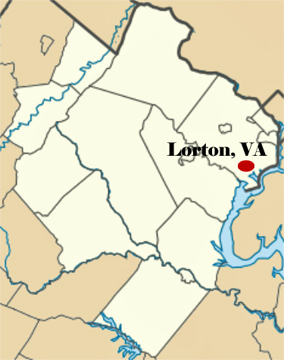location of Lorton, Virginia