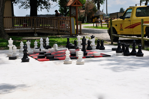 giant chess and checker set