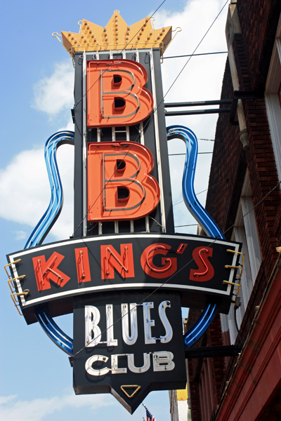 B.B> King's Blues Club sign