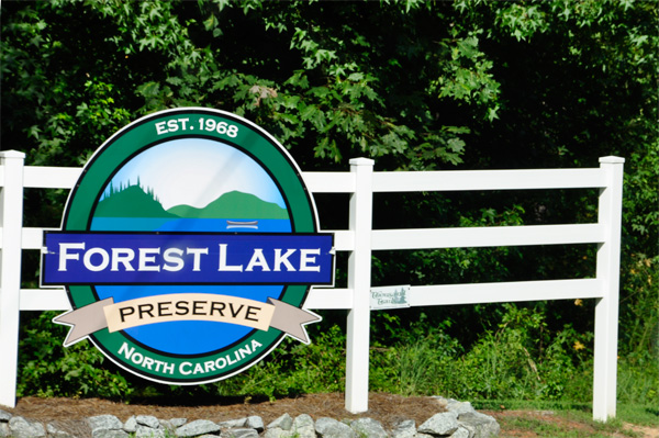 sign: Forest Lake Preserve NC