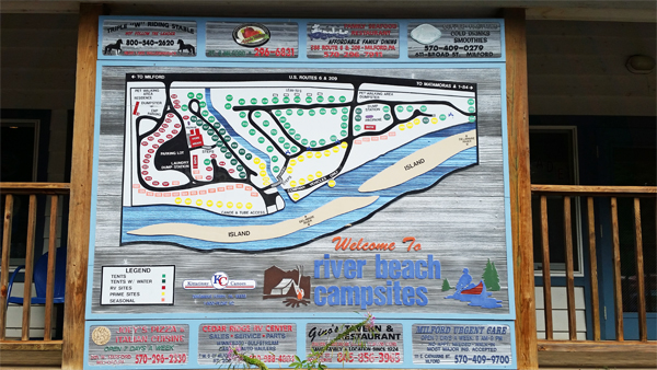 Map for River Beach Campsites