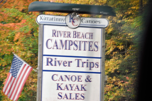 River Beach Campsites sign