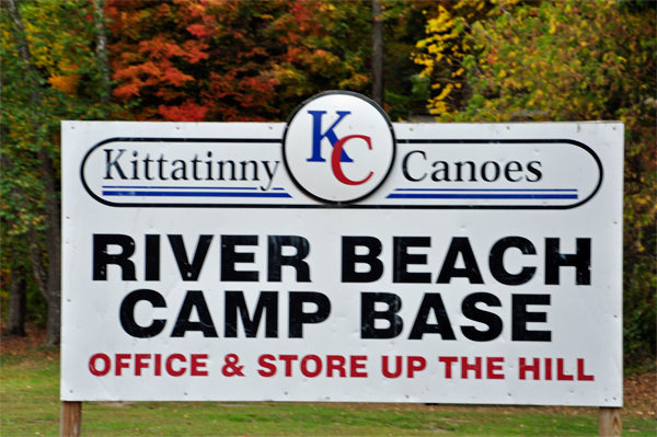 sign for Kittatinny canoes