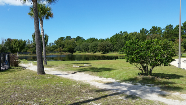 pond in the campground