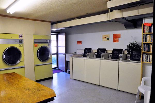 laundry room by the office