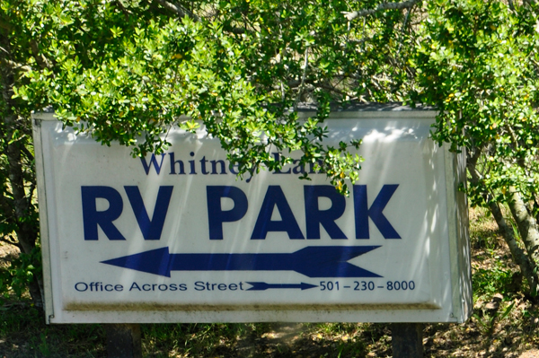 Whitney Lane RV Park sign