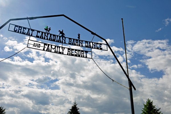 entry to the Great Canadian Barn Dance and Family Campground.