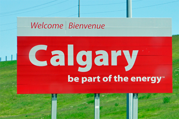 Welcome to Calgary sign