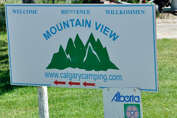 sign for Mountain View campground