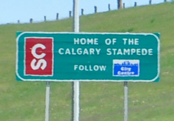 sign: Home of the Calgary Stampede