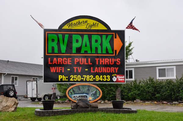 Northern Lights RV Park sign