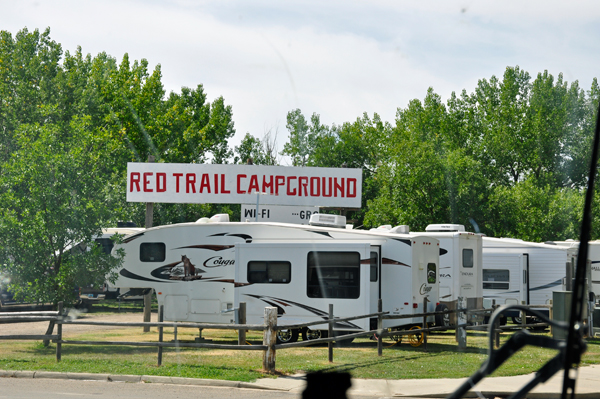 about to enter Red trail Campground