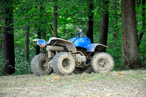 lots of dirty ATVs everywhere