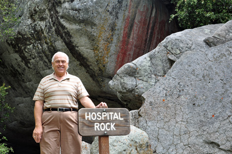 lee Duquette at Hospital Rock at Sequoia National Park
