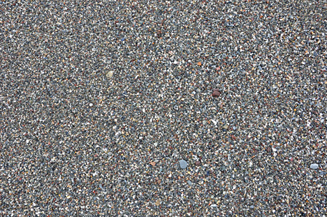 the sand consists of little rocks