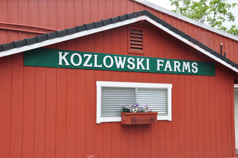 sign on side of building - Kozlowski Farms