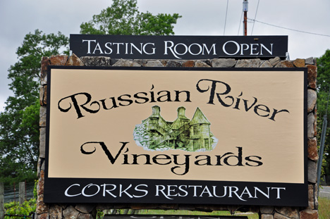 sign - Russian River Vineyards