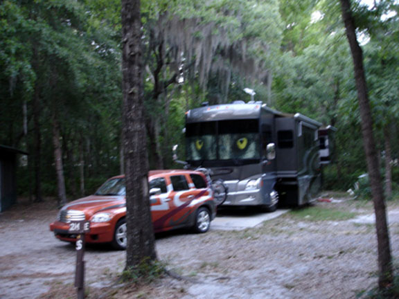 campsite of the two RV Gypsies
